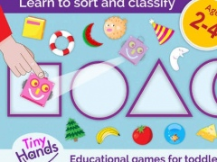 TinyHands Sorting 2, Educational puzzle games for Babies, Toddlers & Preschool kids, Learning apps for boys & girls, Free version - for iPad 2.0 Screenshot