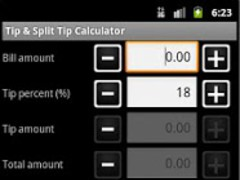Tip & Split Tip Calculator 1.0.2 Screenshot