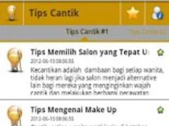 TipsCantik 1.0.1 Screenshot