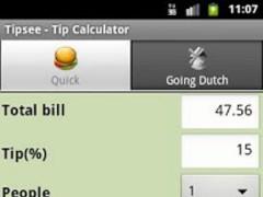Tipsee Tip Calculator 1.0.6 Screenshot