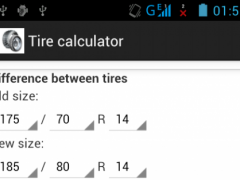Tire calculator 1.0 Screenshot