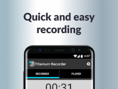 Titanium Voice Recorder with number ID 1.5.82 Screenshot