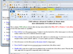 TMS Advanced Toolbars & Menus 6.3.0.0 Screenshot