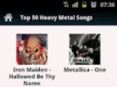 Top 50 Heavy Metal Songs 1.0 Screenshot