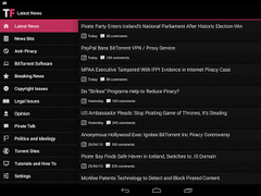 TorrentFreak Reader 2.0.4 Screenshot