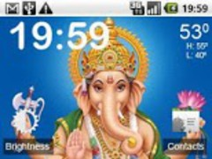 Touch Ganesh Pooja LWP 1.0 Screenshot