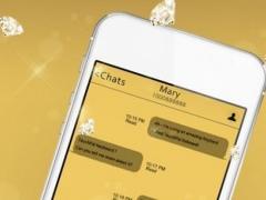 TouchPal Gold Keyboard Theme 1 Screenshot