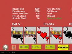 TouchPlay Deuces Wild Poker 3.0.3 Screenshot