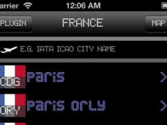 Toulouse-Blagnac Airport - iPlane2 Flight Information 6.0 Screenshot