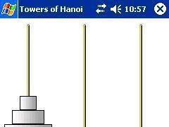 Towers of Hanoi for Pocket PC 1.0 Screenshot