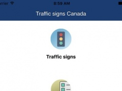 Traffic and road signs Canada 1.0 Screenshot