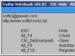 TrayBarNotebook 01.01 Screenshot