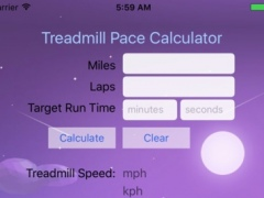 Treadmill Pace Calculator 1.0 Screenshot