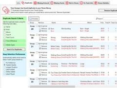 Tune Sweeper iTunes Duplicate remover 4.31 Screenshot