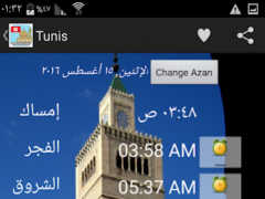 Tunisia Prayer Timings 1.0 Screenshot