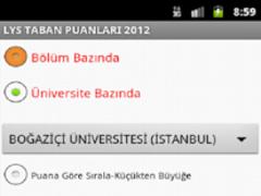 Turkish Undergraduate Scores 1.1 Screenshot