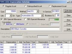 TVPX 1031Depreciation Solution 5.5 Screenshot