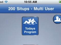 Two Hundred Situps Multi User 1.0.1 Screenshot