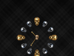 uccw skin skull clock 1.0 Screenshot