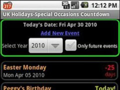 UK Holidays-Special Occasions 3.0 Screenshot