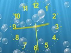 Underwater Clock Bubbles Screensaver 1.25 Screenshot