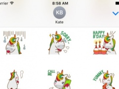 Unicorn Sweet And Cute Sticker For iMessages 1.0 Screenshot