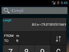 Unit converter widget HOLO  Screenshot