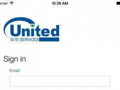 United Site Services Mobile 1.0 Screenshot