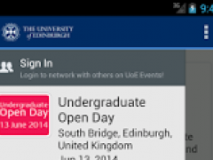 University of Edinburgh Events 1.5.1 Screenshot