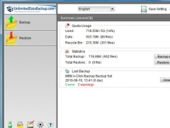 UnlimitedDataBackup.com Mac 5.5.7.0 Screenshot