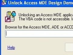 Unlock Access MDE Design 2.3.3 Screenshot