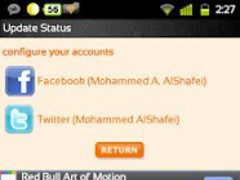 Update Twitter/Facebook Status 3.4 Screenshot