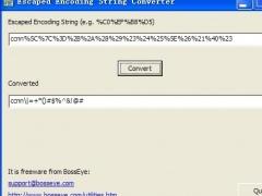 URL Escaped Encoding Decoder 1.0 Screenshot