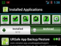 URSafe App Backup/Restore 2.7.130919 Screenshot