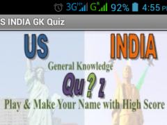 US INDIA GK Quiz 4.0 Screenshot