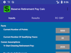 US Military Reserve Retirement 1.20 Screenshot