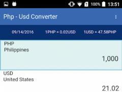 USD - PHP Converter 1.0.3 Screenshot