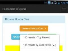 Used Honda Cars in Cyprus 1.3.0 Screenshot