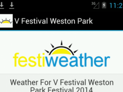 V Festival Weston Park Weather  Screenshot