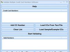 Validate Multiple Credit Card Numbers Software 7.0 Screenshot