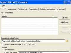 VaySoft PDF to EXE Converter 7.01 Screenshot