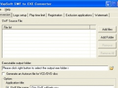 VaySoft SWF to EXE Converter 6.23 Screenshot