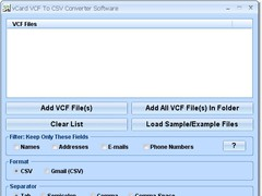 vCard VCF To CSV Converter Software 7.0 Screenshot