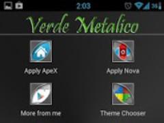 Verde Metalico Launcher Theme 1.1 Screenshot