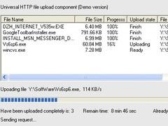 Versal HTTP File Upload ActiveX Control 6.38 Screenshot