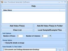 Video Thumbnail Generator Software 7.0 Screenshot