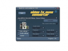 Video to ZUNE converter 2.9.1.01 Screenshot
