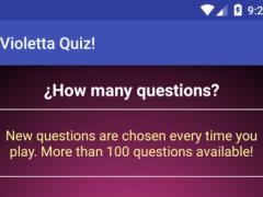Violetta Quiz 1.0 Screenshot