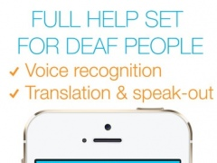 Visual Hear - live Voice and Text Translator with Speech and Dictionary (ideal for deaf people) 1.9.1 Screenshot