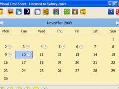 Visual Time Sheet 3.4.8 Screenshot
